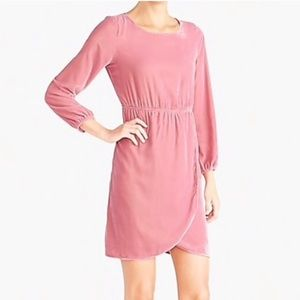 NWT J crew Factory Pink Velvet Dress